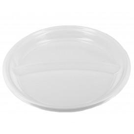 Assiette Plastique Creuse PS 220mm 2 Compartiments (360 Utés)