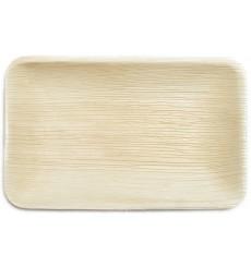 Assiette rectangulaire en Feuilles de Palmier 25x16x3cm (25 Unités)