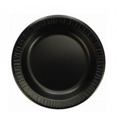 Assiette plate en Foam Noir 150mm (125 Unités)