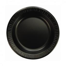 """Assiette Thermique FOAM """"Quiet Classic"""" Stratifié Noir Ø150mm (1000 Utés)"""