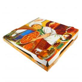 Boîtes à Pizza 33x33x3,5 Végétal (Paquet 100Utés)