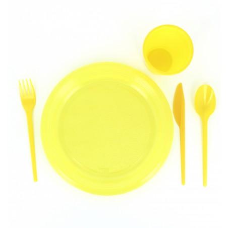 Fourchette Plastique Jaune de 165mm (900 Unités)