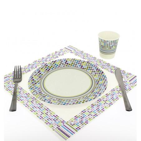 Assiette carton Décorée 18cm (504 Unités)