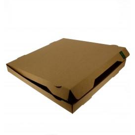 Boîte Carton Kraft 33x33x3,5 cm (100 Utés)