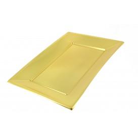 Plateau Plastique Doré rectang. 330x 230mm (12 Utés)