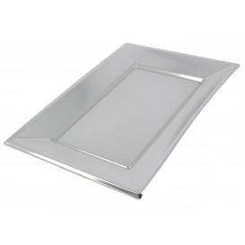 Plateau Plastique Argenté rectang. 330x230mm (360 Utés)