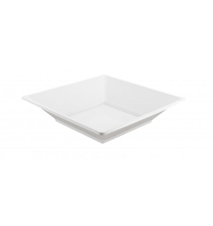 Assiette Plastique Carrée Creuse Blanche 170mm (750 Utés)
