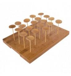 Barquette en Bambou pour Pique 25x30x1,3cm (1 Uté.)