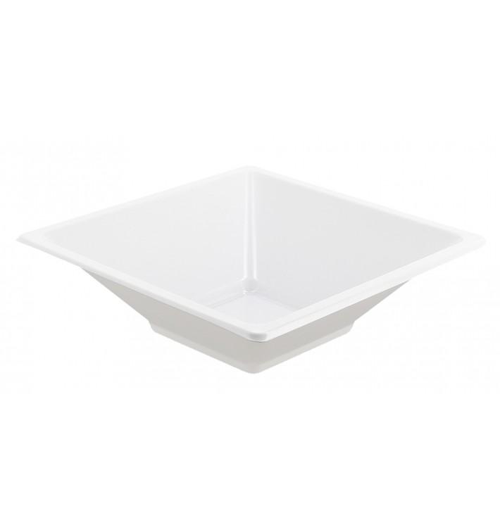 Bol carré en plastique blanc 120x120x40mm (720 Unités)