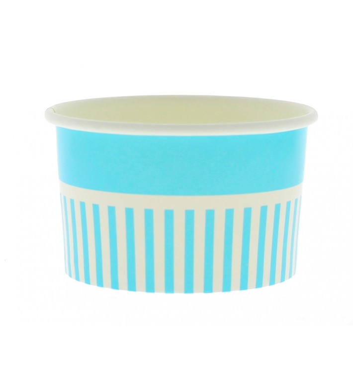 Pot à glace en carton 12oz/360ml Bleu (1000 Utés)