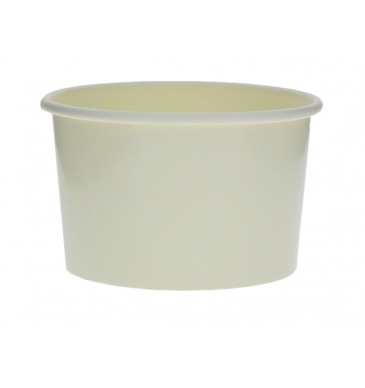 Pot à glace en carton 3oz/90ml Blanc (50 Utés)