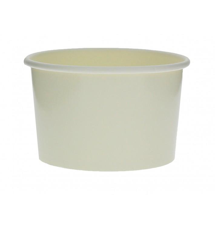 Pot à glace en carton 3oz/90ml Blanc (1000 Utés)