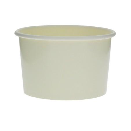 Pot à glace en carton  3oz/90 ml Blanc (1000 Utés)