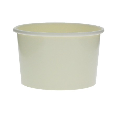 Pot à glace en carton  6oz/180ml Blanc (50 Utés)