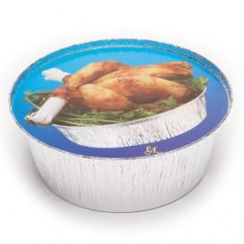 Couvercle Carton Récipient Rond  poulet 1900ml (500 Utés)