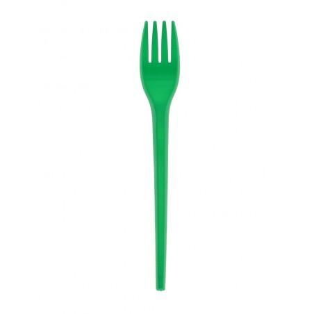 Fourchette Plastique Verte de 165mm (900 Unités)