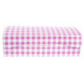 Boîte pâtissière 18,2x13,6x5,2cm 500g.  Rose (25 Utés)