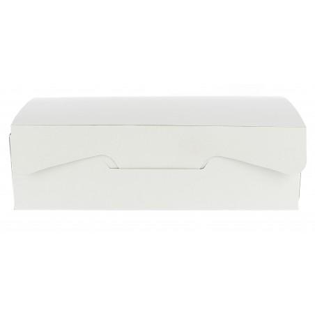 Boîte pâtissière 17,5x11,5x4,7cm 250g. Blanc (5 Utés)
