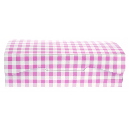 Boîte pâtissière 25,8x18,9x8cm 2Kg.  Rose (5 Utés)