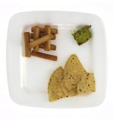 Assiette plate en Foam Blanc 170 mm (50 Uds)