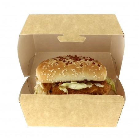 Boîte à Hamburger Kraft 14x13x7 cm (450 Unités)