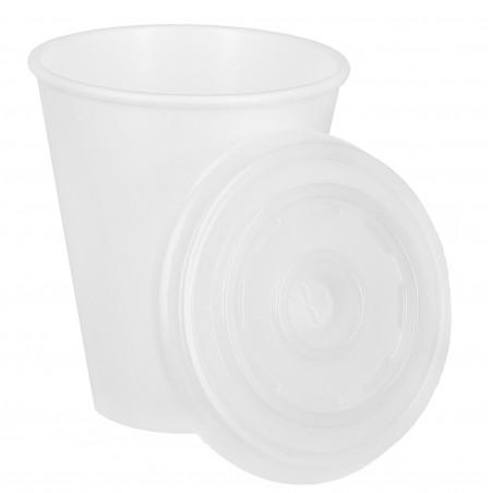Gobelet Foam 200ml BLANC + Couvercle  (Pack 1.600Utés)