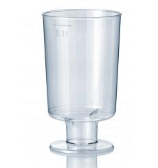 Verre à Pied en Plastique 100ml (15 Unités)