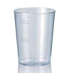 Verre Plastique Dur Transparent PS 40ml (50 Unités)