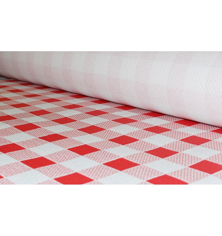 nappe en papier en rouleau carr rouge 1x100m 40g 1 unit. Black Bedroom Furniture Sets. Home Design Ideas