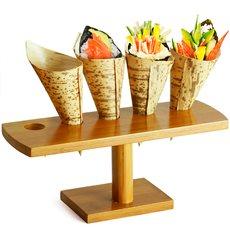 Stand en Bambou pour 5 Cornets (10 Unité)