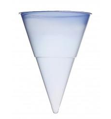 Cône bleuté en Plastique 115ml (200 Unités)