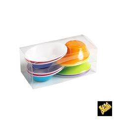 """Verrine Dégustation Plastique """"Sodo"""" blanc et multicolore 50 ml (8 Utés)"""