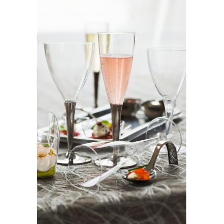 Flûte à Champagne Pied Argenté 100ml (100 Unités)