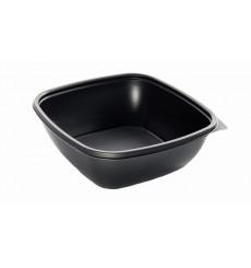 Barquette Plastique PP Carrée Noir 16,5x16,5x4cm (50 Utés)