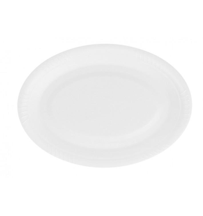 Assiette plate Ovale en FOAM 260mm (50 Utés)
