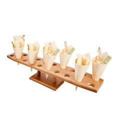Stand en Bambou pour 10 Cornets (1 Unité)