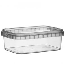 Pot Plastique Rectangulaire inviolable 280ml 120x88mm (192 Unités)