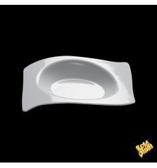 Assiette Dégustation Flat Blanc 8x6,6 cm (50 Utés)