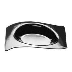 Assiette Dégustation Flat Noir 8x6,6 cm (500 Utés)