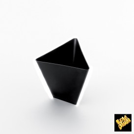 """Bol Dégustation """"Triangle"""" Noir 70 ml (500 Utés)"""