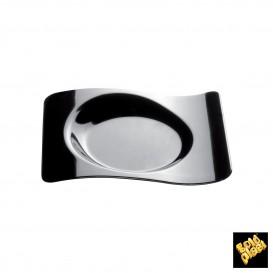 """Assiette Dégustation """"Forma"""" Noir 8x6,6 cm (500 Utés)"""