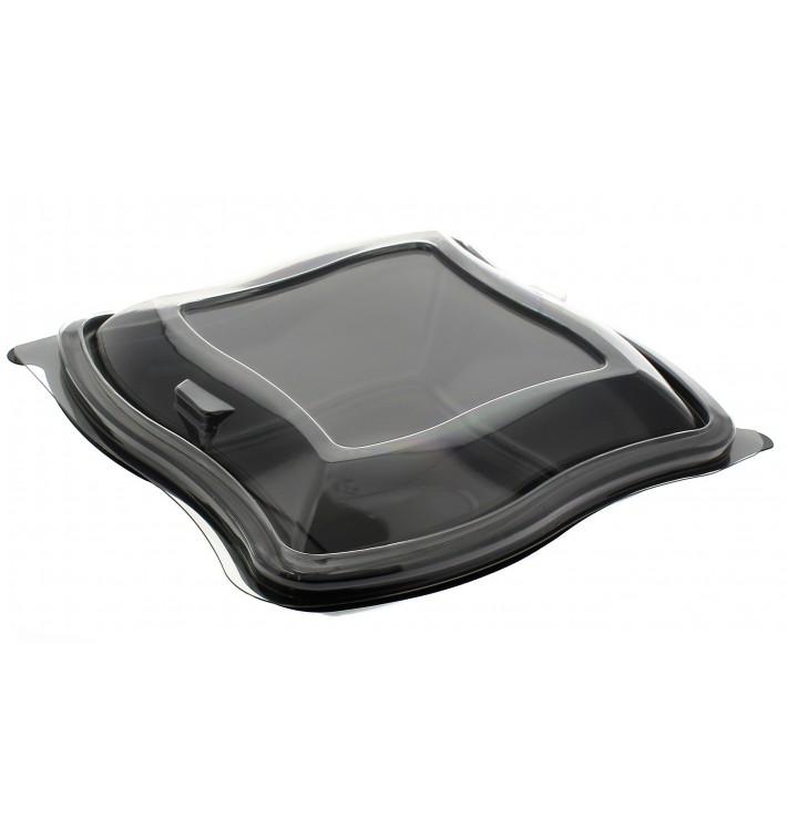 Saladier ondulé noir en plastique PET 1000ml (400 Utés)