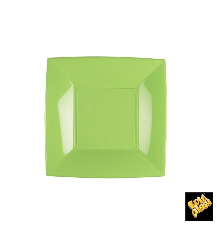 assiette plastique plate vert citron nice pp 180mm 25 ut s. Black Bedroom Furniture Sets. Home Design Ideas