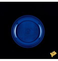Assiette Plastique Plate Bleu Ø185mm (50 Utés)