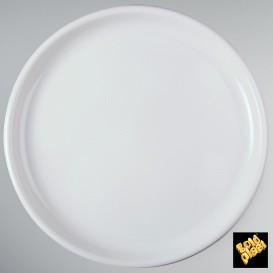 Assiette en Plastique pour Pizza Blanc Ø350mm (12 Utés)