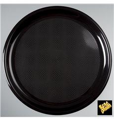 Assiette en Plastique pour Pizza Noir Ø350mm (72 Utés)