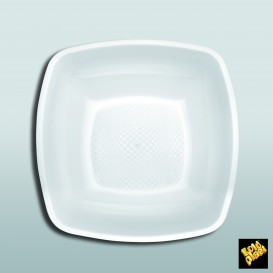 Assiette Plastique Fond Blanc 180mm (25 Utés)