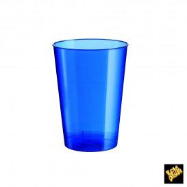 Verre Plastique Moon Bleu Pearl PS 200ml (50 Unités)
