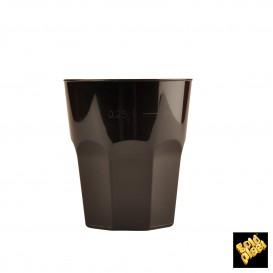 Verre Plastique à Cocktail Noir PP Ø84mm 270ml (20 Utés)