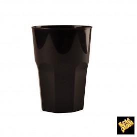 Verre Plastique à Cocktail Noir PP Ø84mm 350ml (20 Utés)